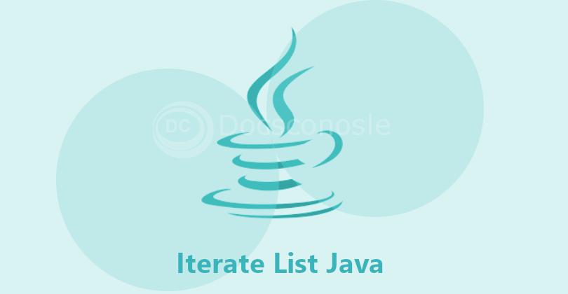 Iterate List Java