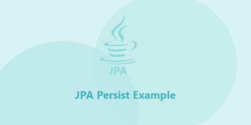 jpa persist example
