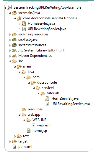 Session-Tracking-With-URL-Rewriting-architecture