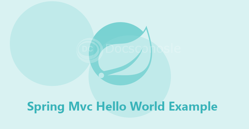 Spring5 MVC HelloWorld XMLConfig Example