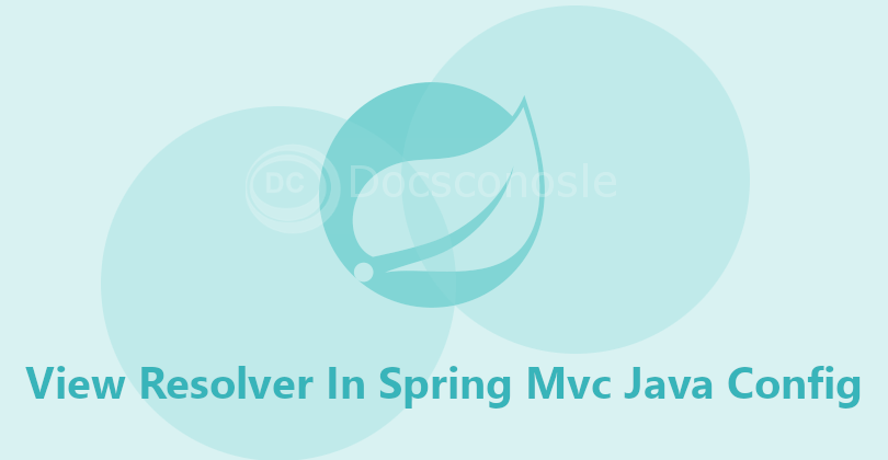 View Resolver In Spring Mvc Java Config