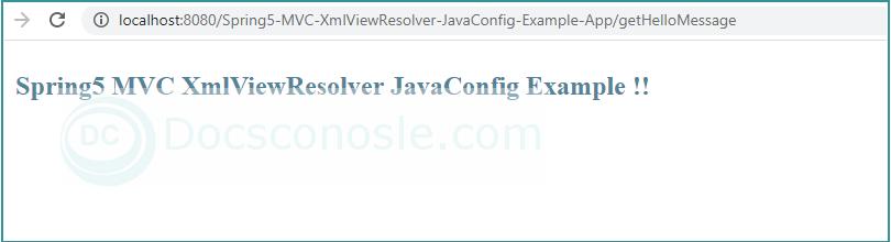 Spring5 MVC XmlViewResolver JavaConfig Example