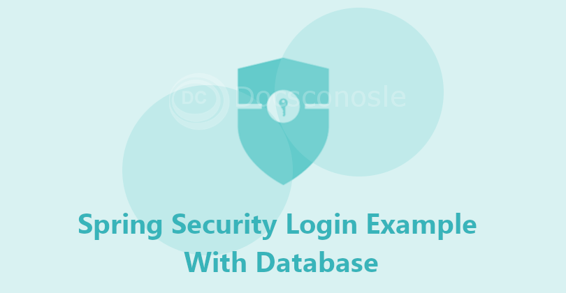 spring security login with database
