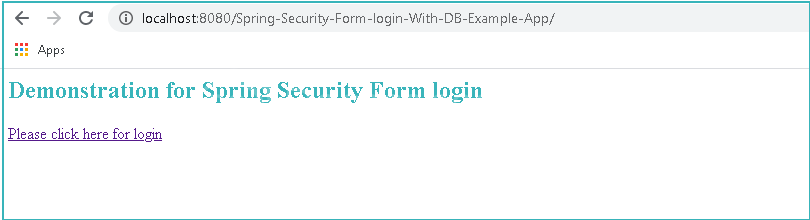Spring Security Login Form With Database